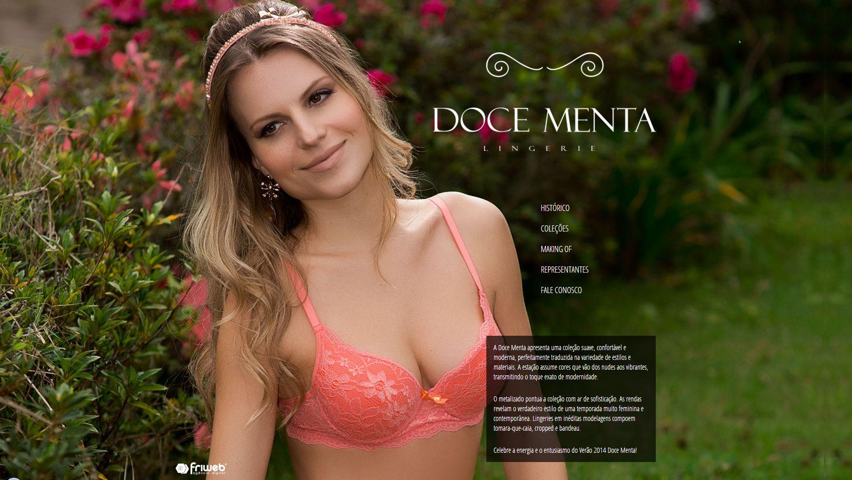 daa29b216 O novo layout do site Doce Menta Lingerie destaca o estilo das novas  coleções