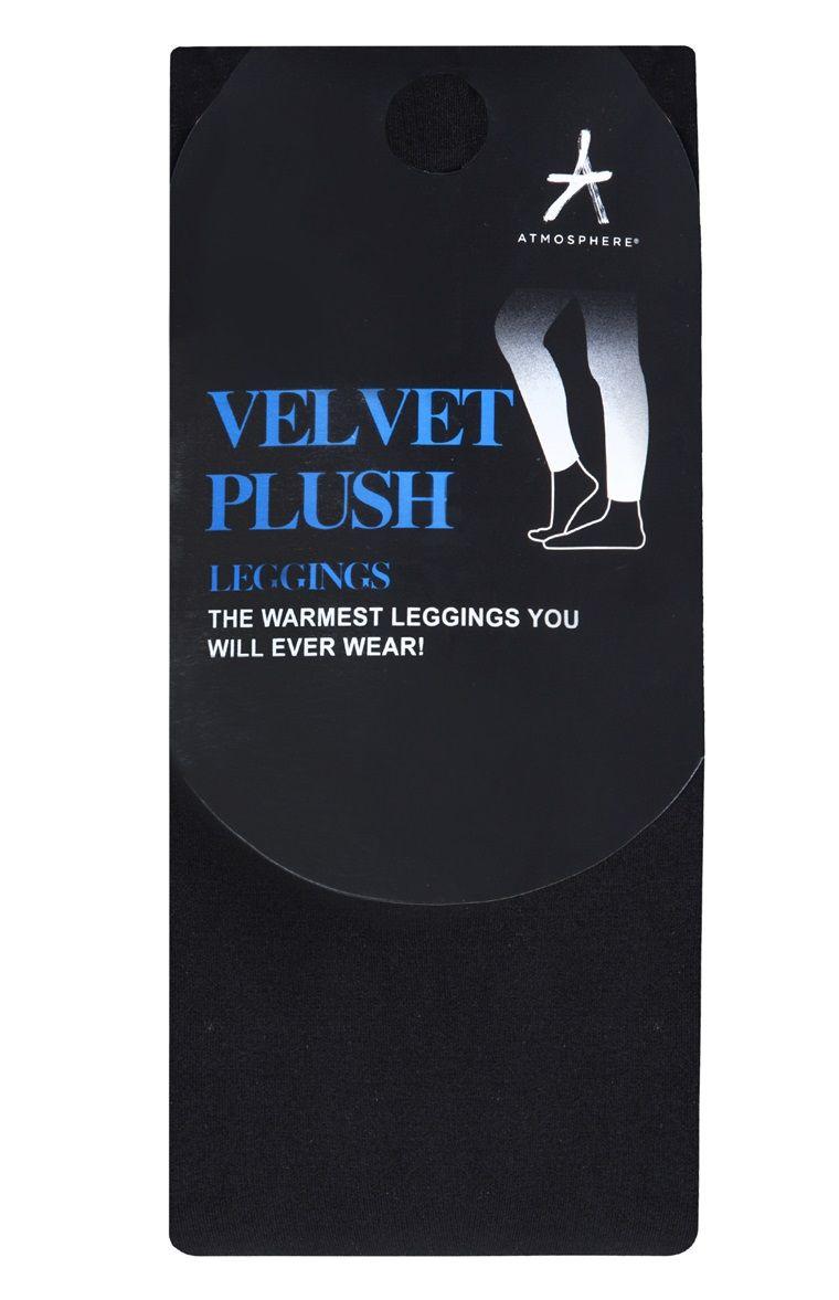 b0e3b407b217ff Legging noir doublé de velours. Black Velvet Lined Leggings Primark ...