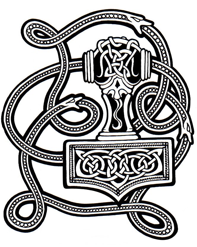 Mjolnir, Molly's tattoo before Nether time; this one is ...