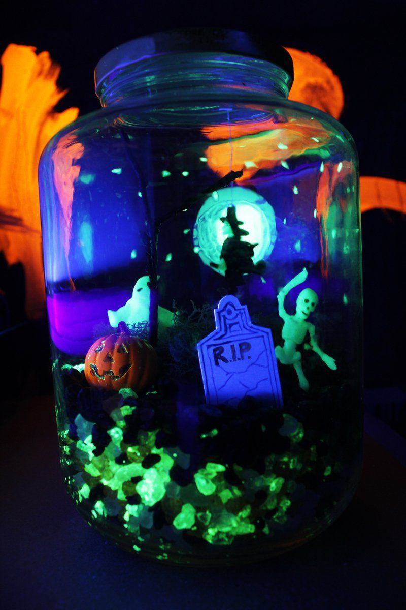 Halloween Crafts Glow in the Dark Terror-arium Craft, Halloween - Kids Halloween Decorations