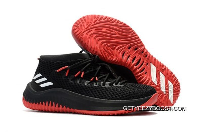 28d1670168c847 New Adidas Dame 4 Black Red Shoes Top Deals