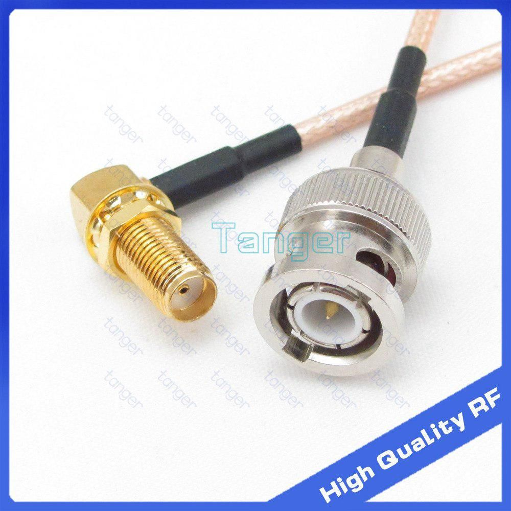 Connector Tang Male Bnc Plug To Female Sma Right Angle Jack Connector With 20cm 8