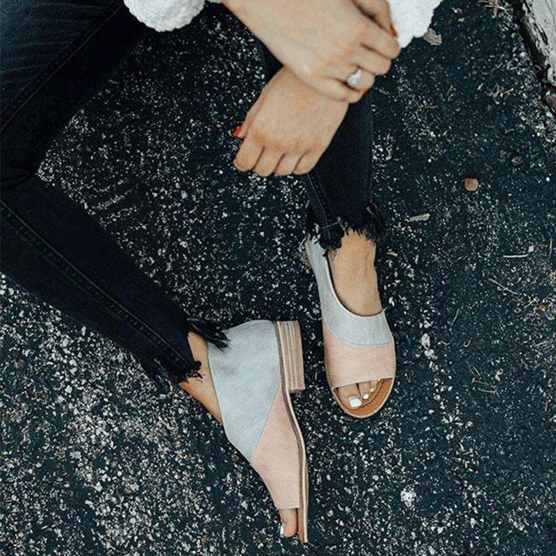 c623116c8c1 Women Daily Low Heel Panel Sandals - gifthershoes  womenshoesonline ...