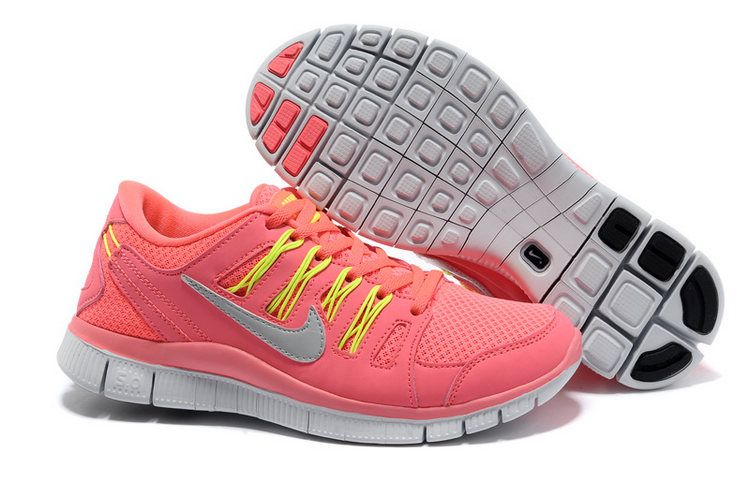 270 Ladies Nike Free 5.0+ Coral Yellow Running Shoe UK