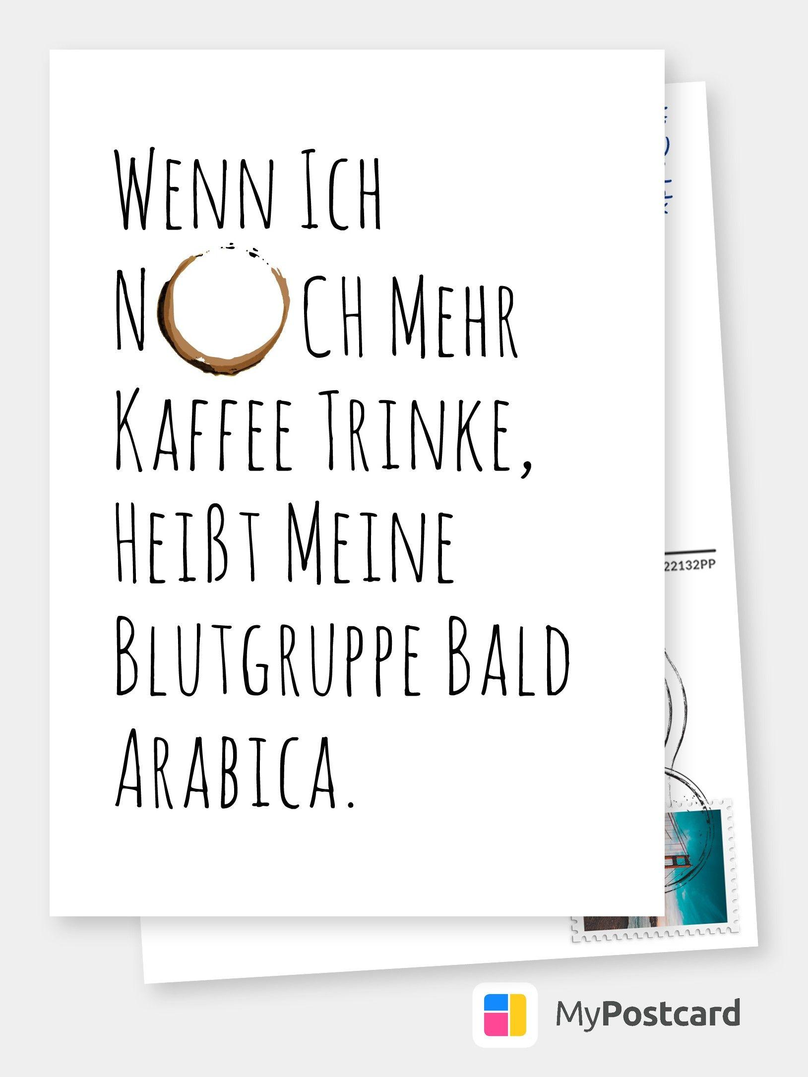 Arabica Witzige Karten Spruche Echte Postkarten Online Versenden Lustige Postkarten Karten Spruche Postkarte Verschicken