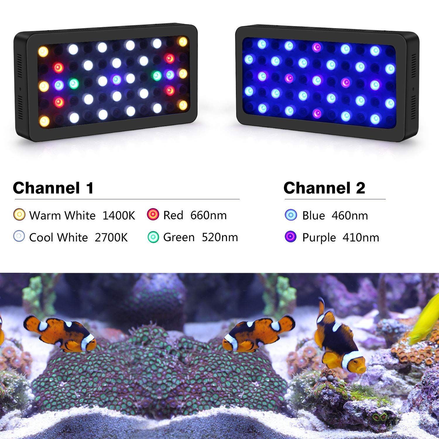 10 Best Reef Led Lights Reviews Side By Side Comparison Led Aquarium Lighting Aquarium Lighting Beautiful Fish