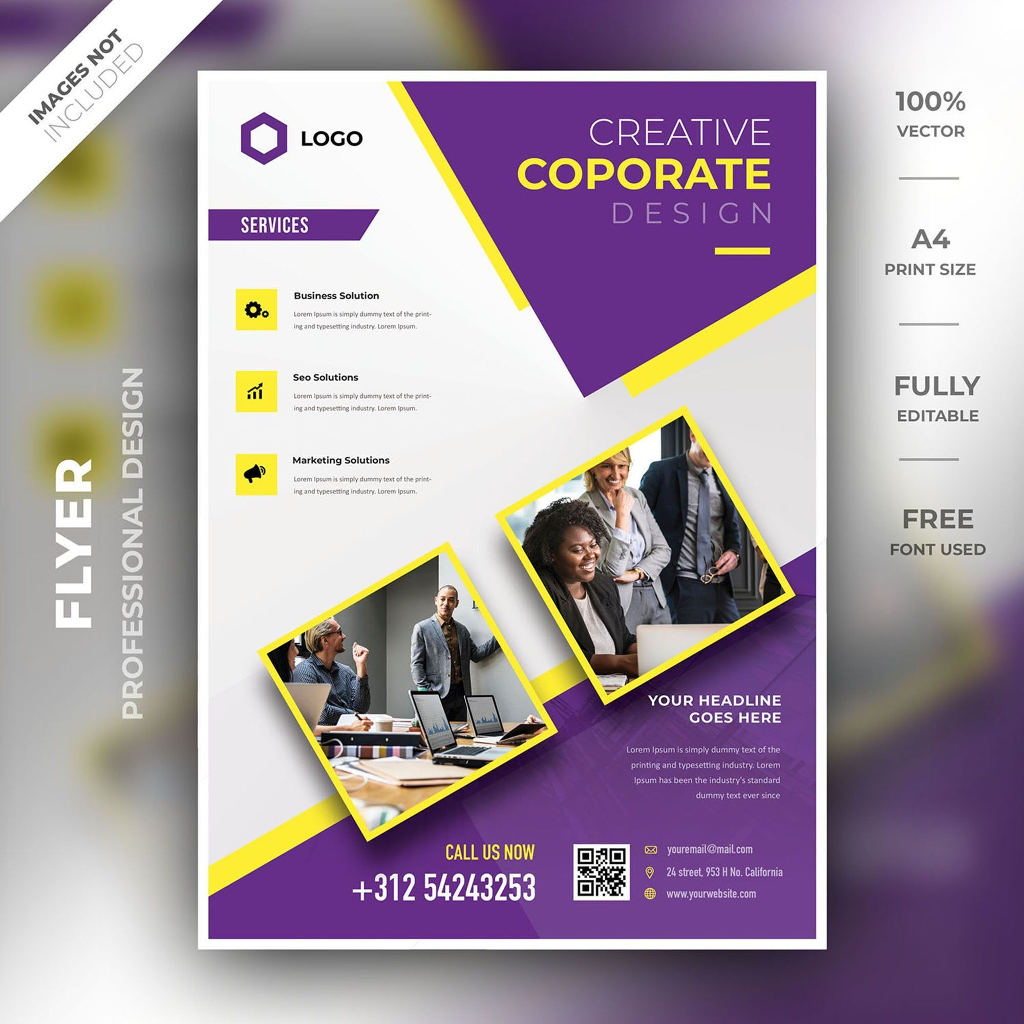 Business Flyer Template Corporate Template Photoshop Psd Business Flyer A4 Business Flyer Templates Flyer Flyer Template