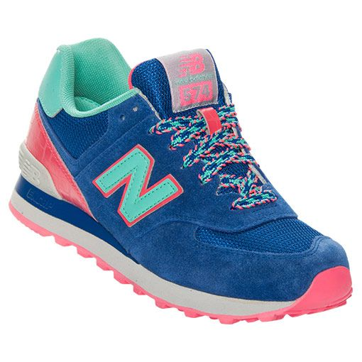 new balance 574 blue and pink