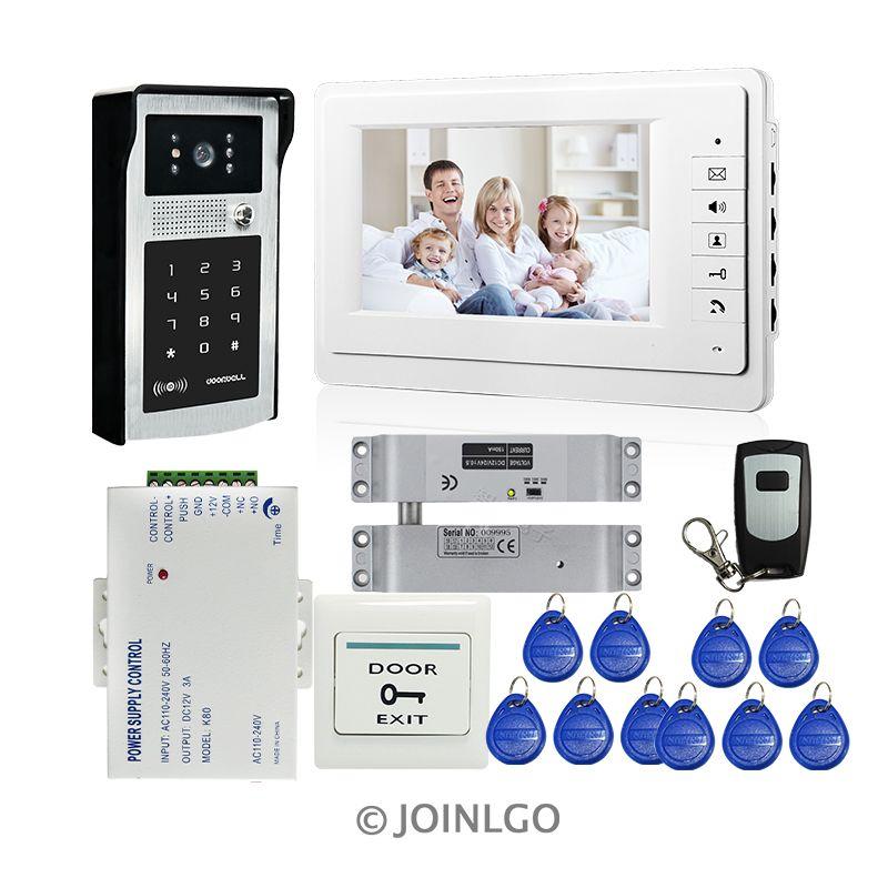 Free shipping 7 color screen video door phone doorbell