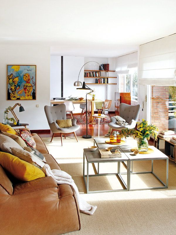 Un piso luminoso de estilo vintage