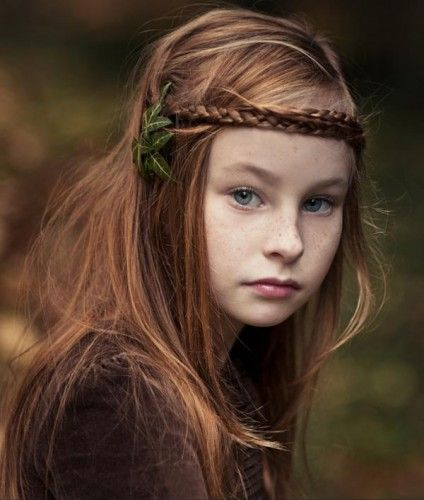 Kids Hairstyle Easy Braided Blonde Long For Little Gilrs With Brace Layered Hairstyles Girls Curly