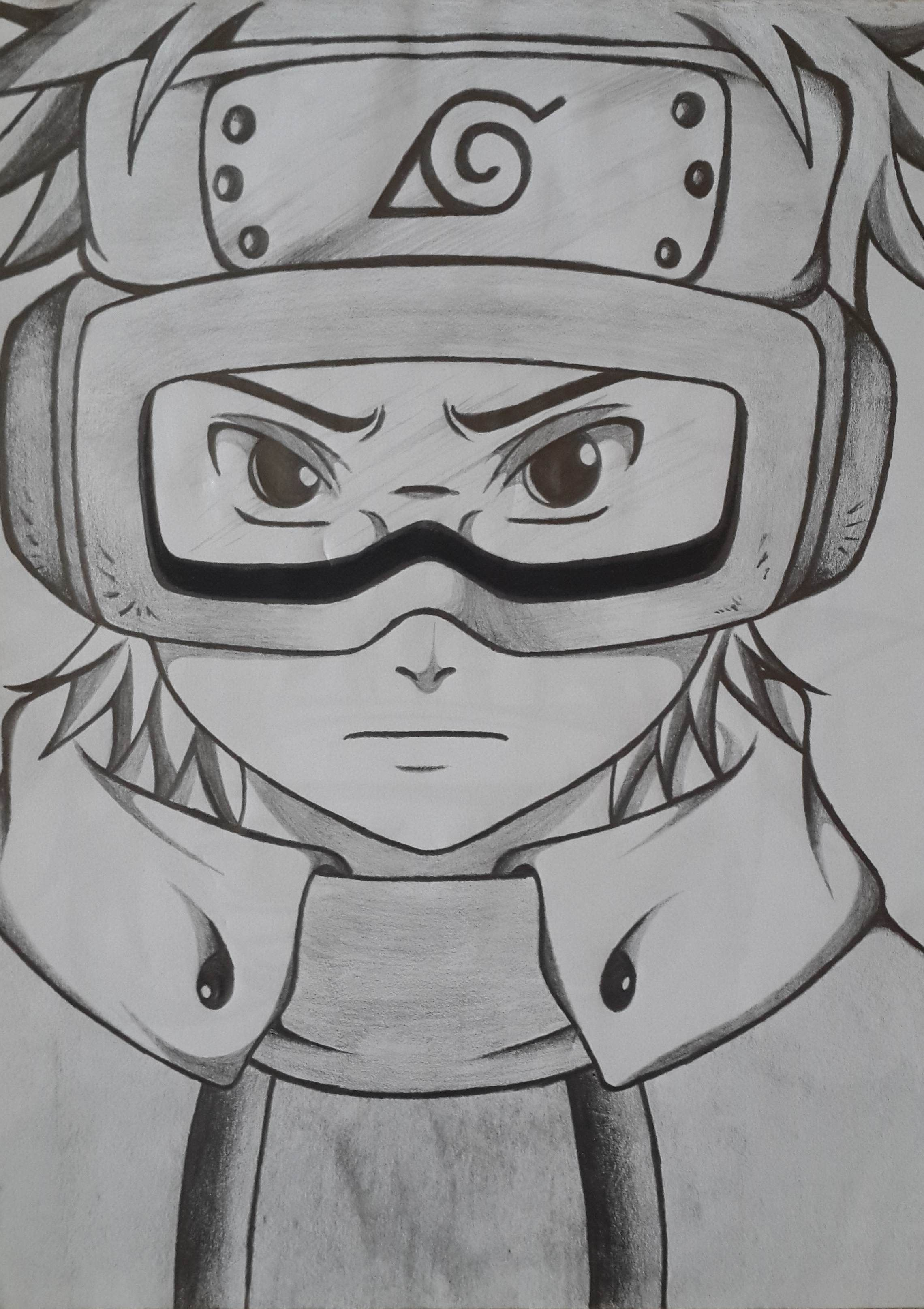 Obito pencil drawing