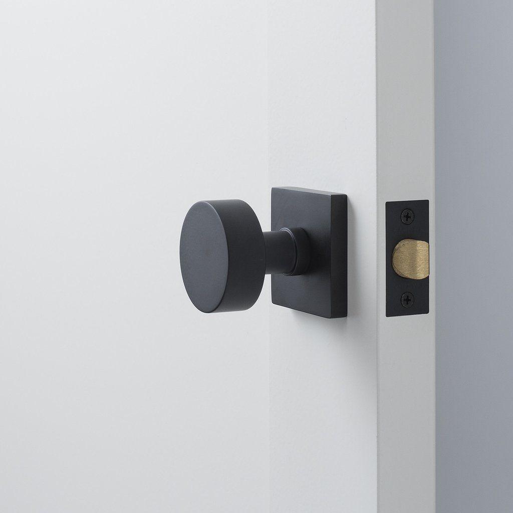 Berlin Door Set With Cylinder Knob Flat Black