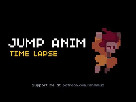 Pixel Art Jump Animation Time Lapse In 2019 Pixel Art