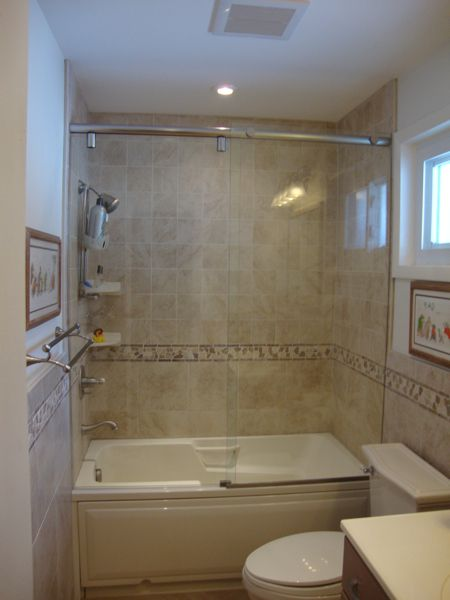 Small Tubs Shower Combo Hydroslide Modern Sliding Shower