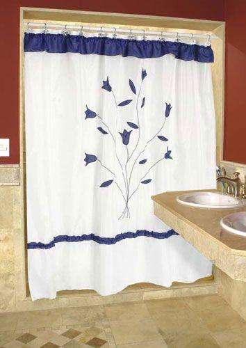 Resultado de imagen para cortinas de baño bordadas en cinta paso a ...