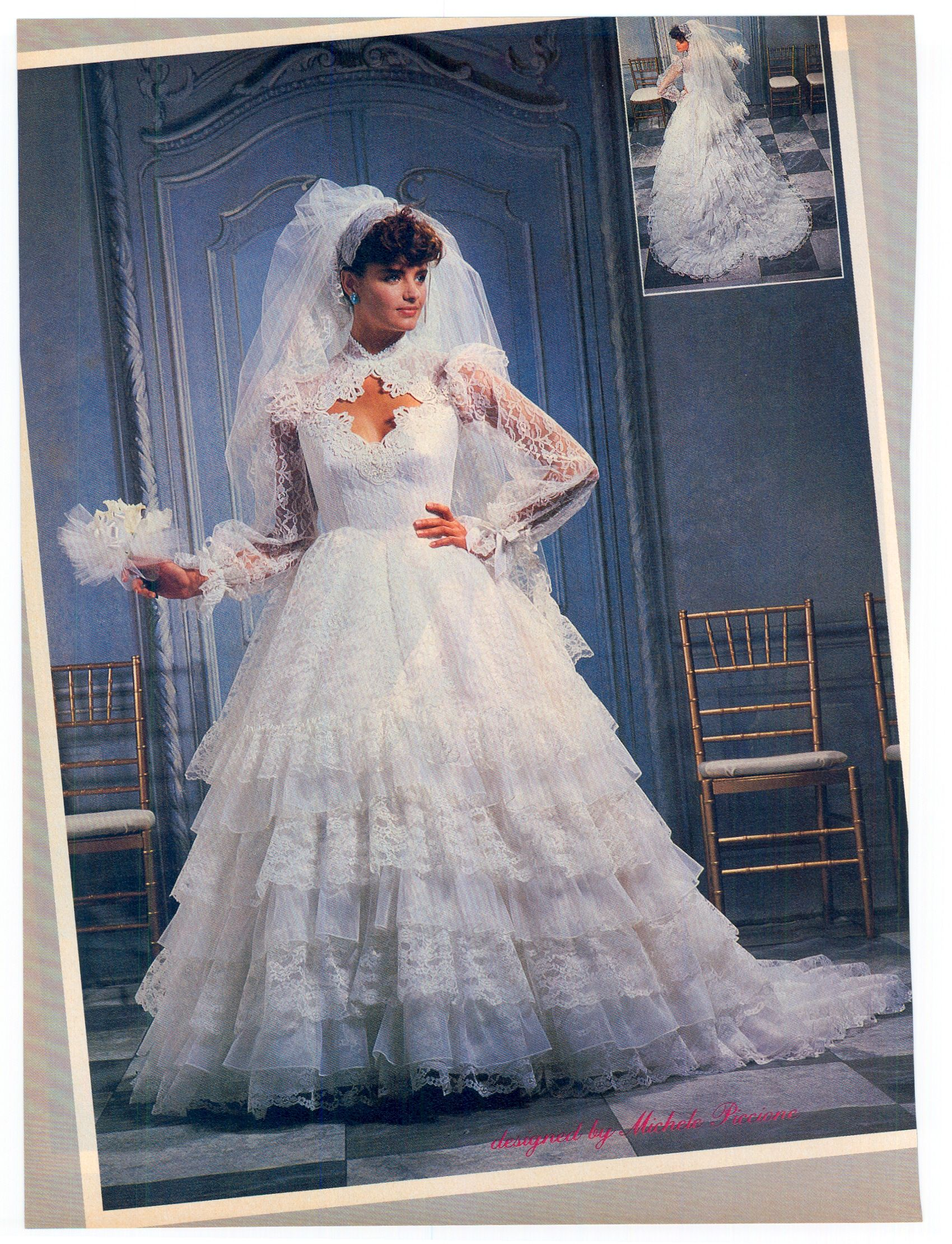 That heart shaped train!!! Love it! 1985 Aug/Sept Brides magazine ...