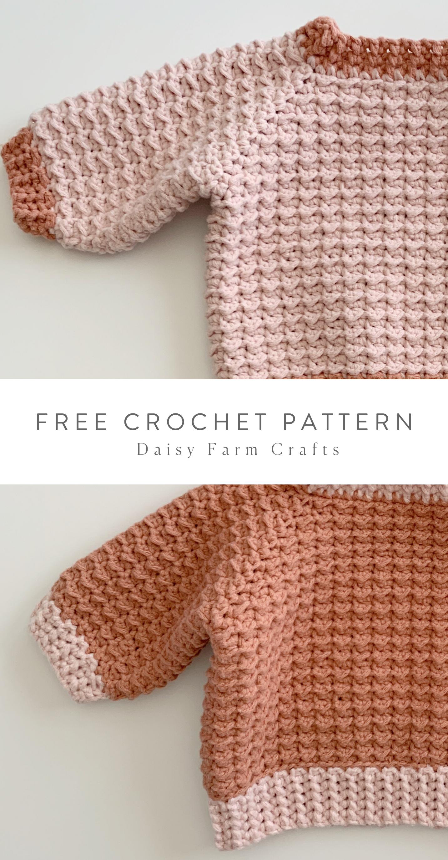 Free Pattern - Crochet Even Moss Baby Sweater