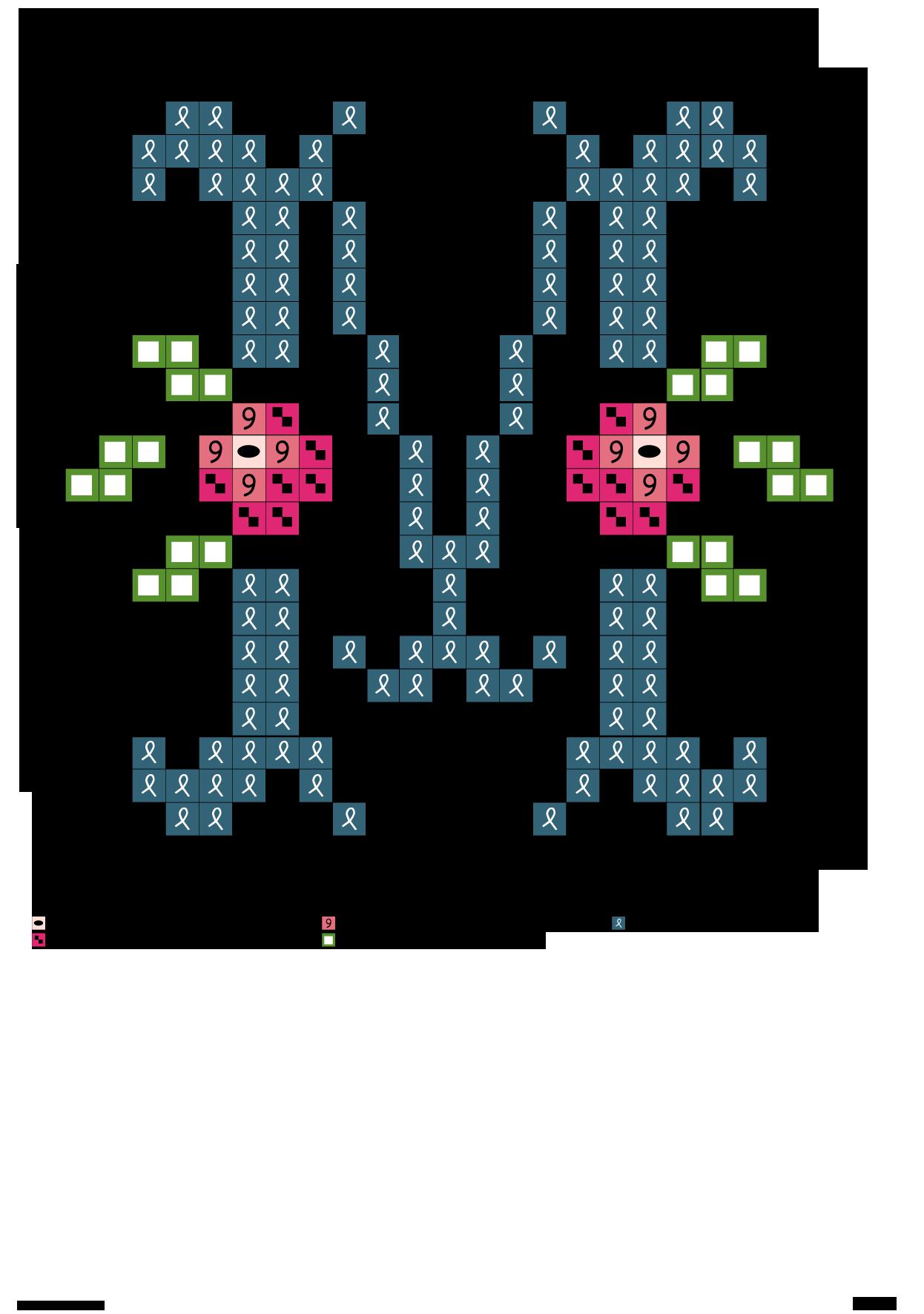 Alfabeto azzurro con fiore rosa: M | café crochet | Pinterest ...