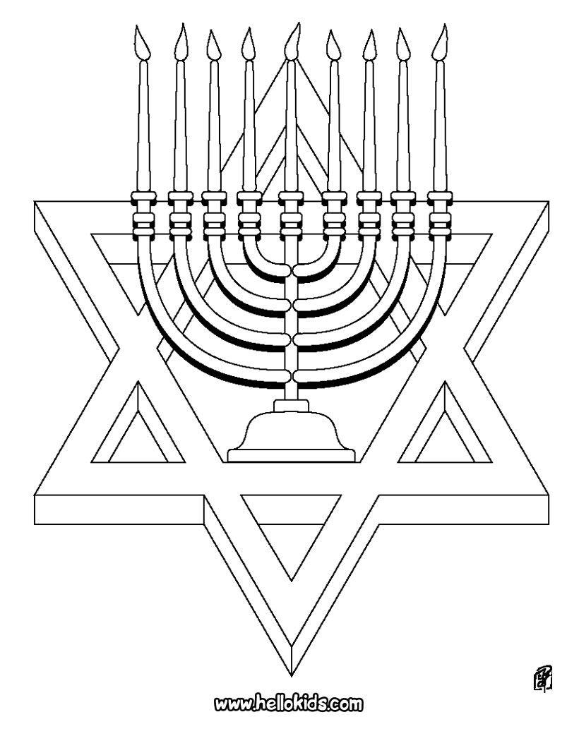 Hannukah Crafts Hanukkah Crafts Coloring Pages [ 1060 x 820 Pixel ]