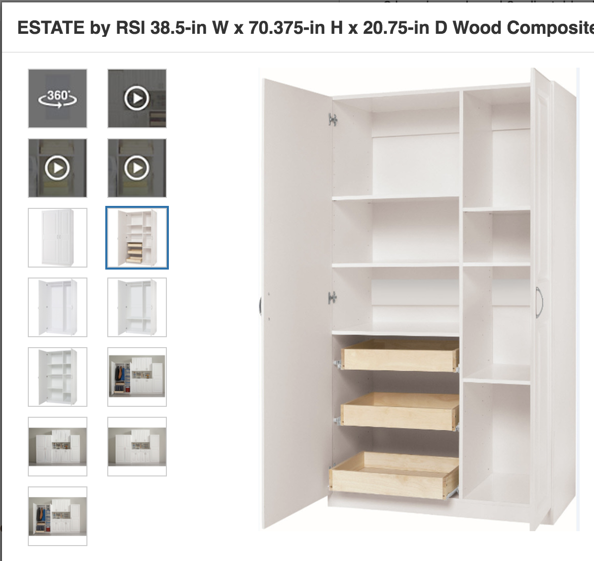 Tall adjustable storage from Lowe's 200 Utility
