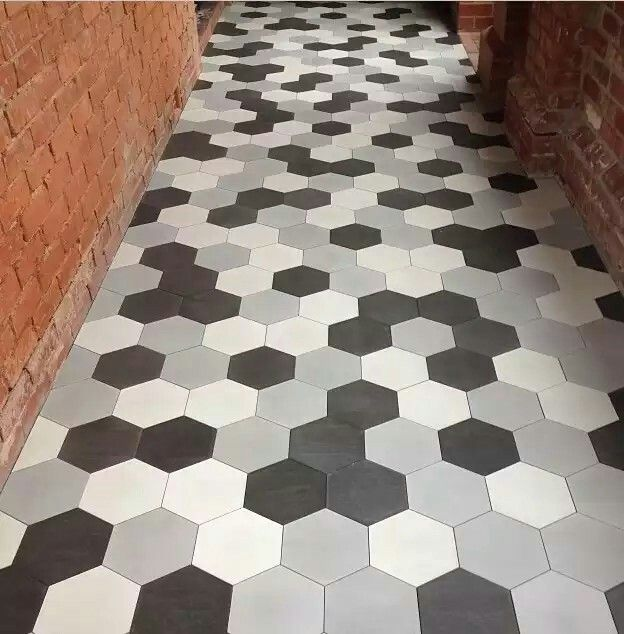 Hexagon Tiles Black White And Grey Hexagon Tile Floor Hexagon Tiles Tile Floor