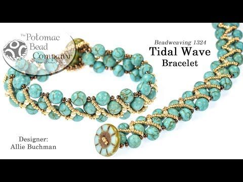 Tidal Wave Bracelet Tutorial - YouTube, with Potomac Bead Table Cut
