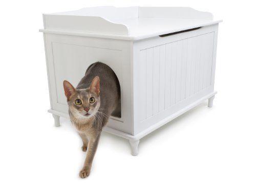 Designer Catbox Litter Box Enclosure In White Designer Catbox Http Smile Amazon Com Dp B00 Dog Proof Litter Box Litter Box Enclosure Cat Litter Box Furniture