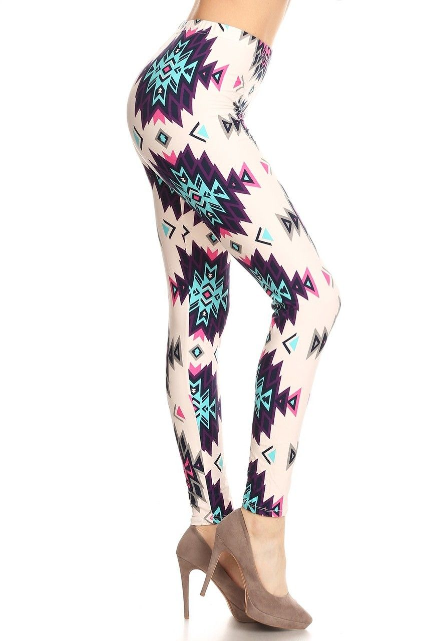 d4f4453f9a2 Wholesale Buttery Soft Pearly Plum Tribal Plus Size Leggings