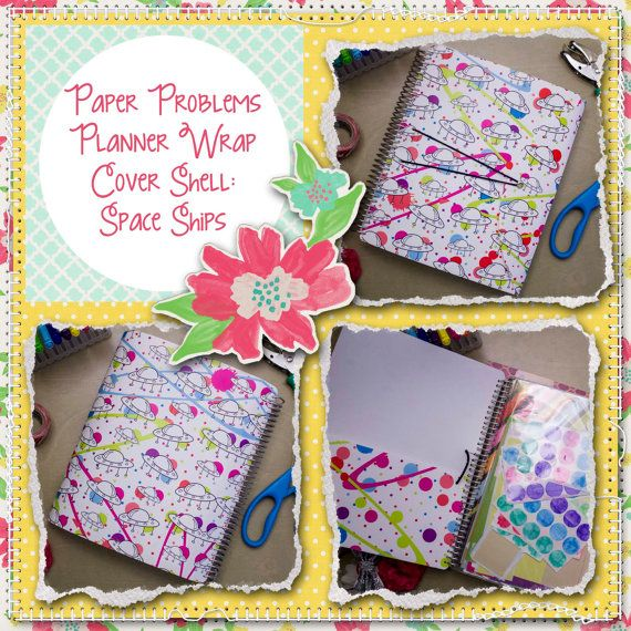 Planner wrap covers & more for Erin Condren, Plum paper, inkwell press, limelife, simplified life, arc, mambi happy planner & more. Visit my Etsy listing at https://www.etsy.com/listing/230272435/clearance-space-ships-wrap-planner-cover