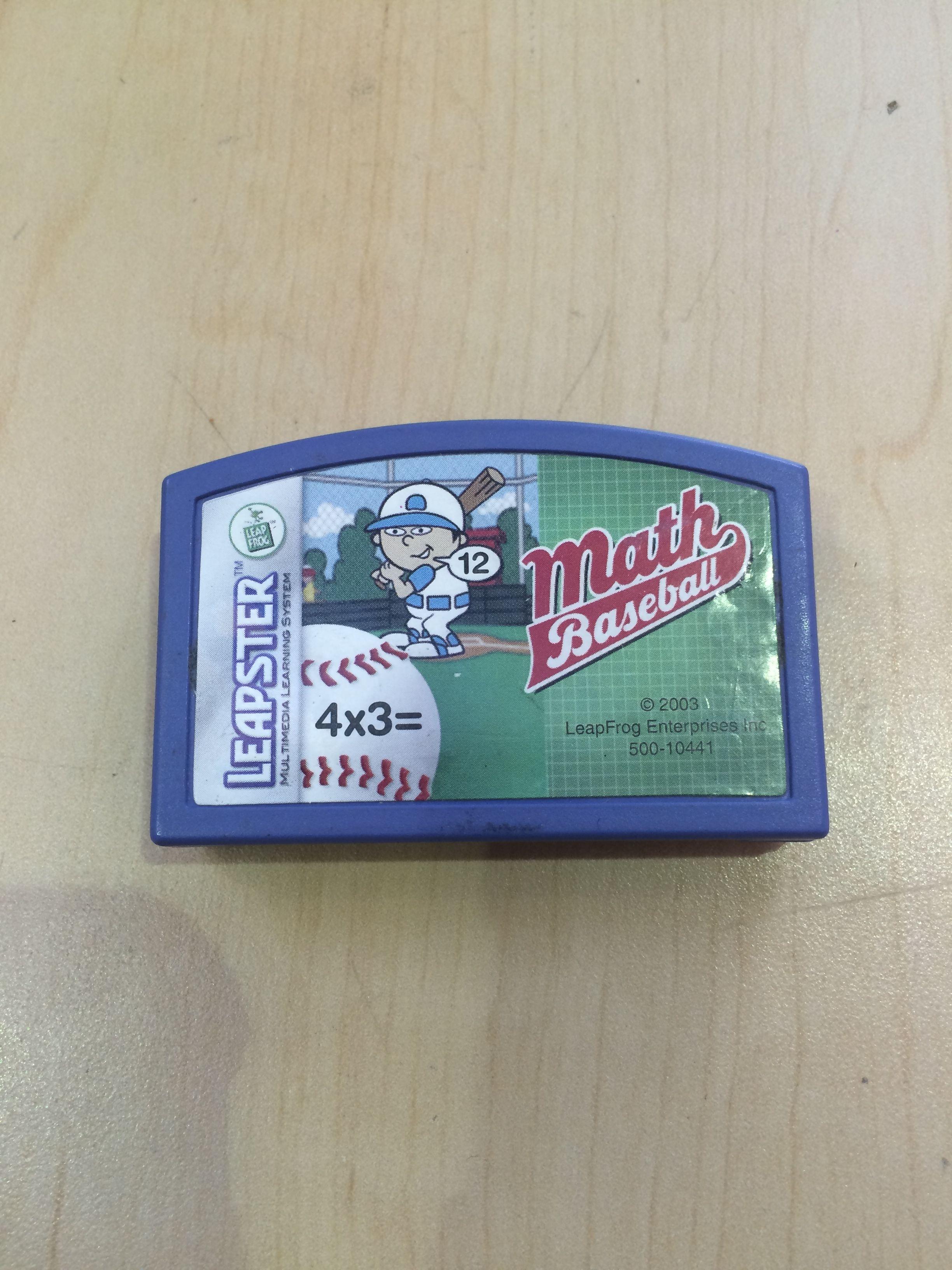 Math Baseball (Leapster Multimedia Learning System) Math Baseball ...