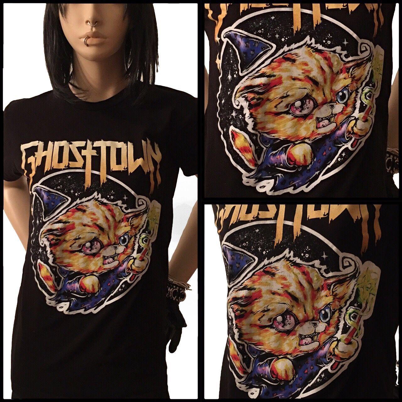 Ghosttown wizard cat shirt unisex size small ghosttownshirt