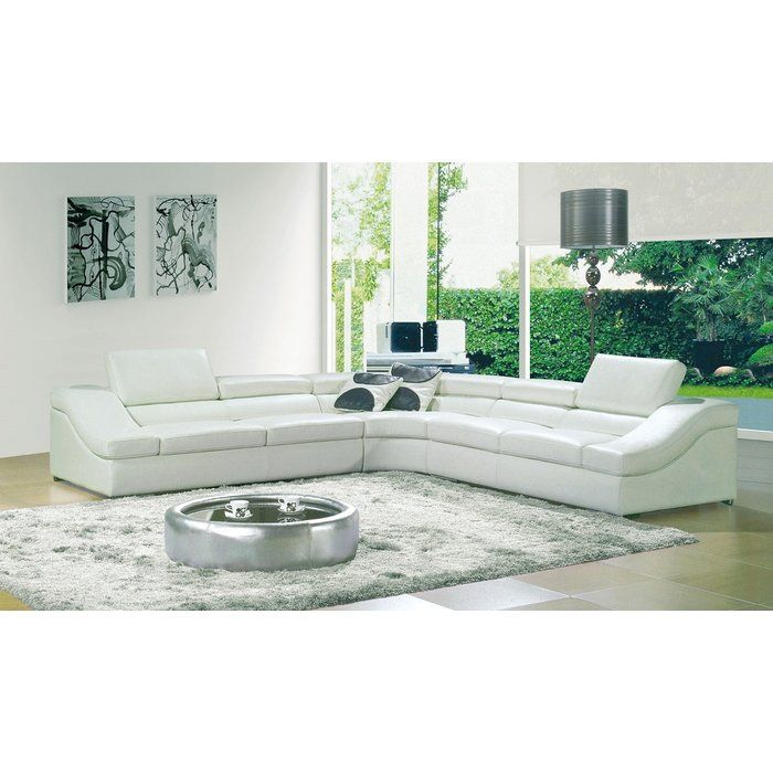 Grosseto Symmetrical Sectional Sectional Sofa White Sectional Sofa Leather Corner Suites