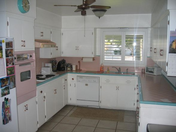1950u0027s Pink To Modern Chic   Kitchen Designs   Decorating Ideas   HGTV .