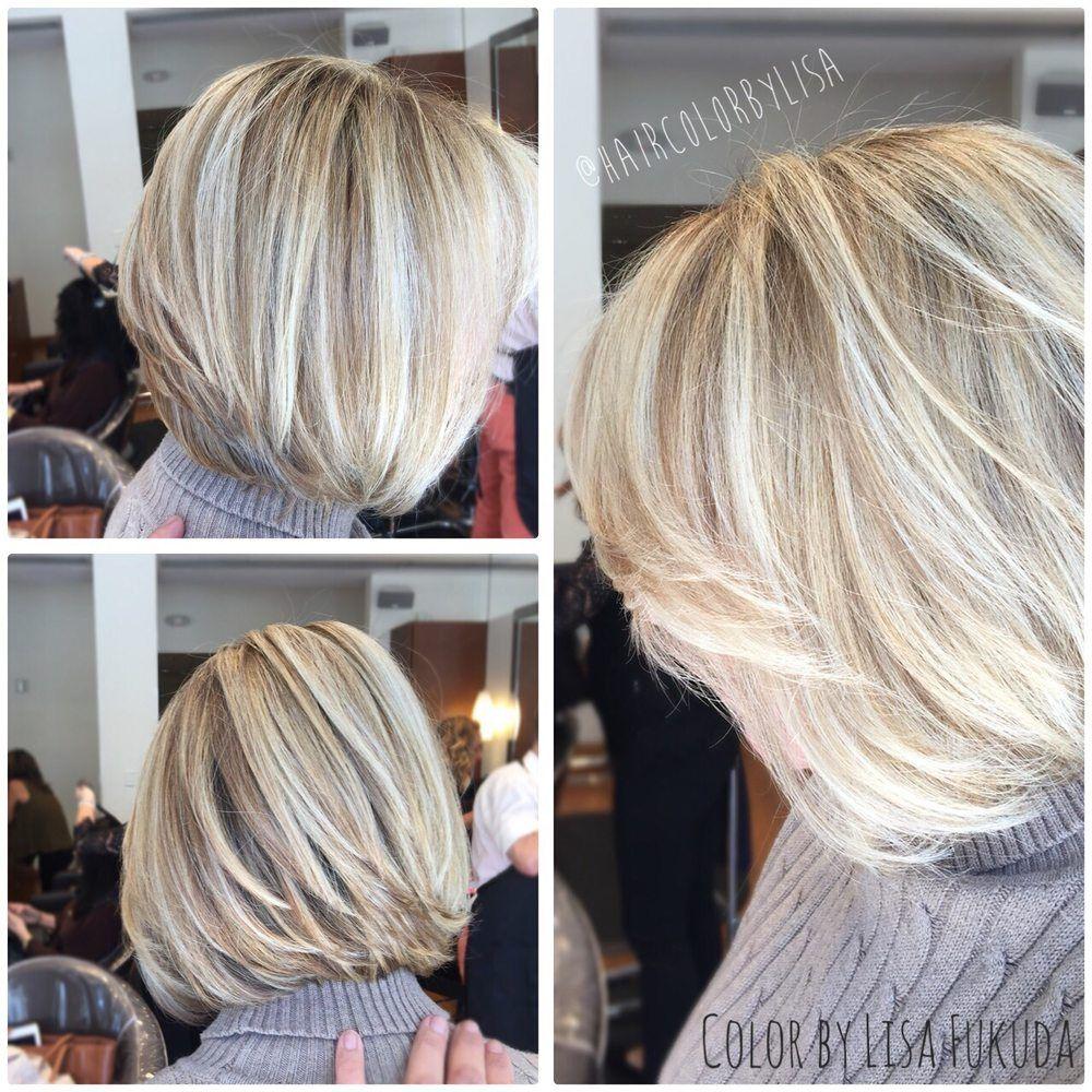 Blonde Dimensional Highlights W Tint To Blend Grey Hair Blending Gray Hair Hair Grey Hair Color