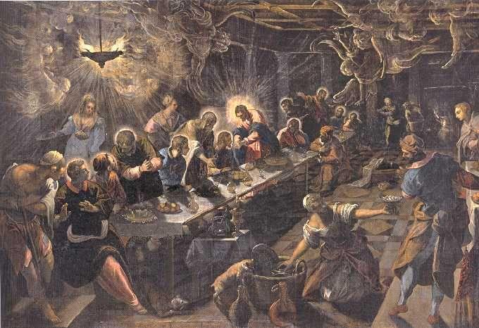 Last Supper Jacopo Tintoretto 1591