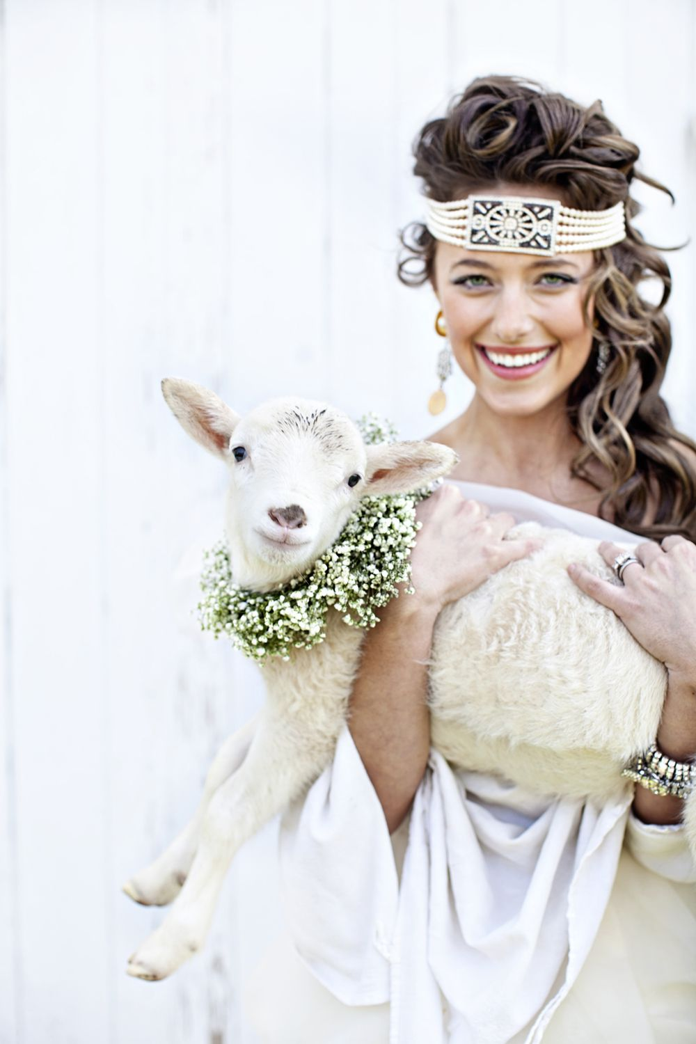 a bride and her lamb