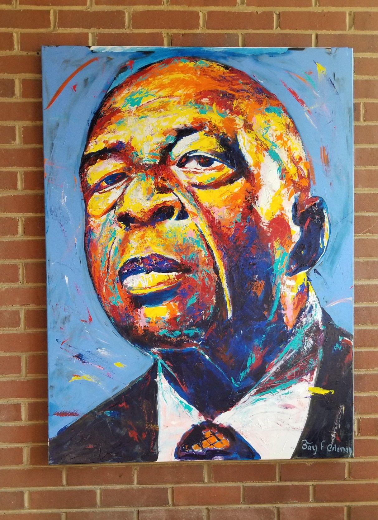 Elijah cummings portrait by jay coleman painted live at