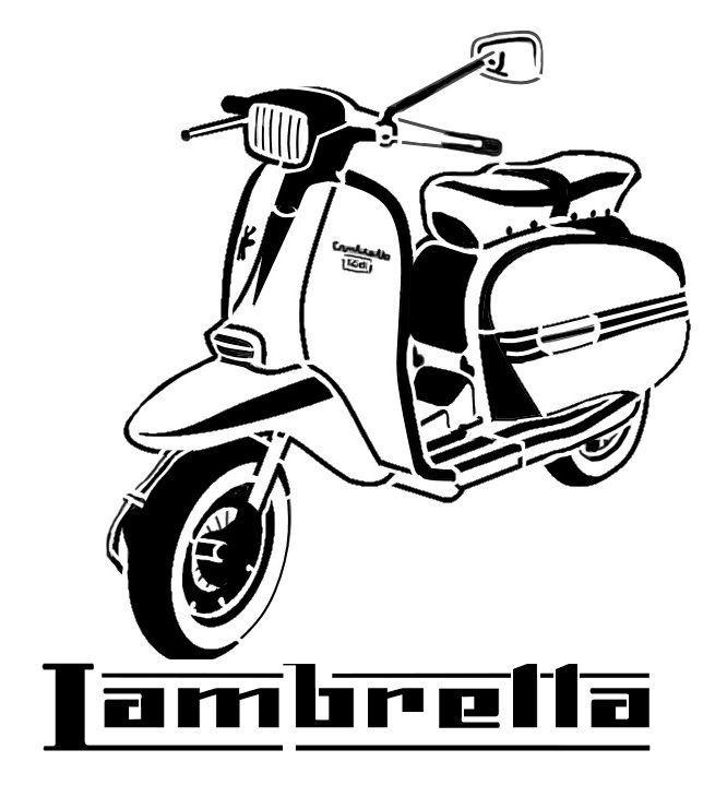 High Detail Airbrush Stencil Lambretta Scooter Free Uk Postage Ebay