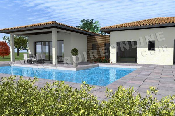 plan maison moderne piscine AGORA Home Pinterest