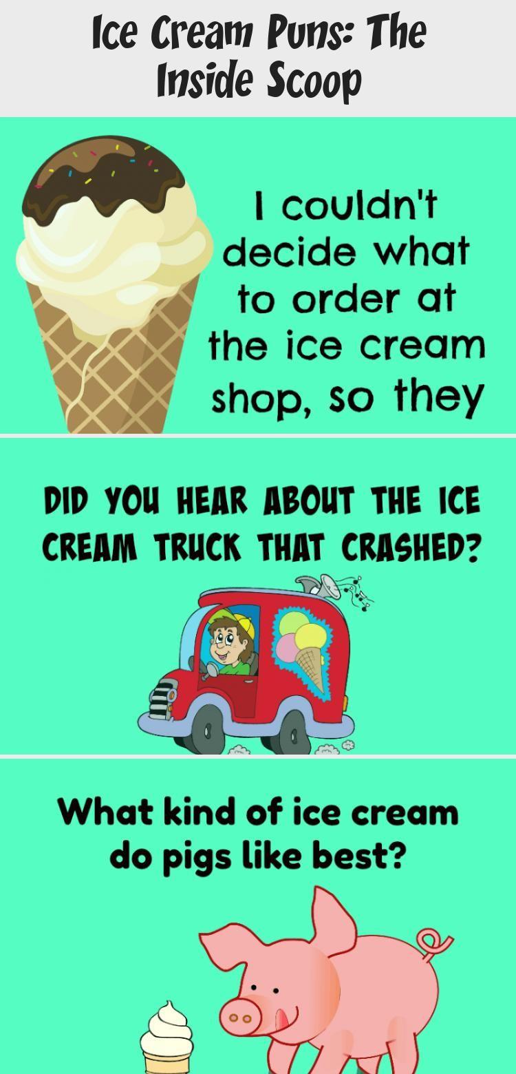 Ice Cream Puns The Inside Scoop Ice cream puns, Ice