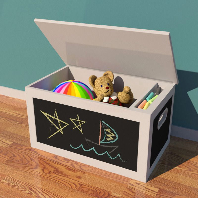 toy box plans chalkboard toy box woodworking plan by. Black Bedroom Furniture Sets. Home Design Ideas