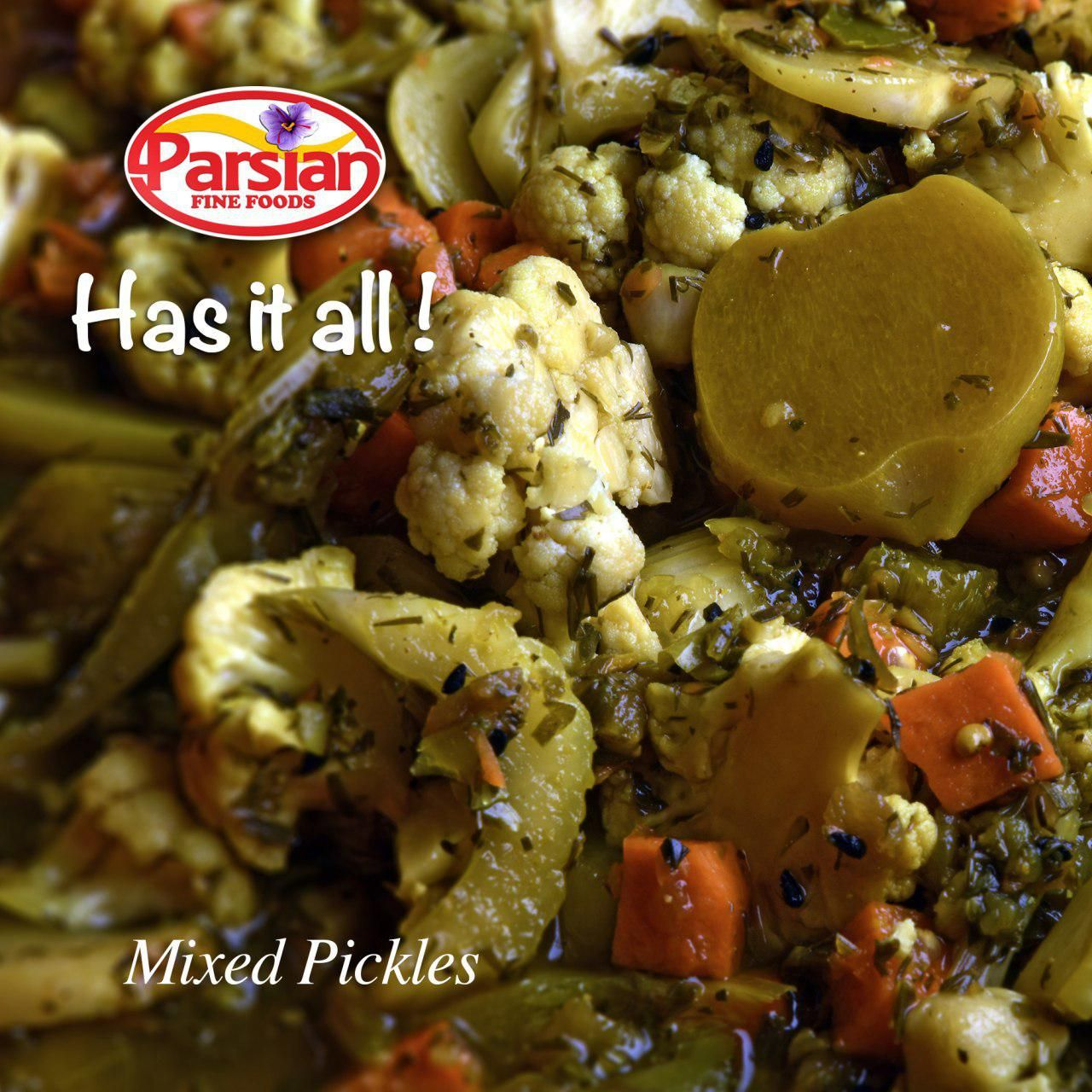 Torshi, or turshi, are simple vegetable pickles that add a