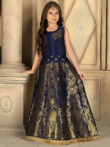 aaa17e0d76e9 Shop Silk navy stylish party wear gown online from G3fashion India. Brand -  G3, Product code - G3-GGO00056, Price - 5895, Color - Navy, Fabric - Silk,