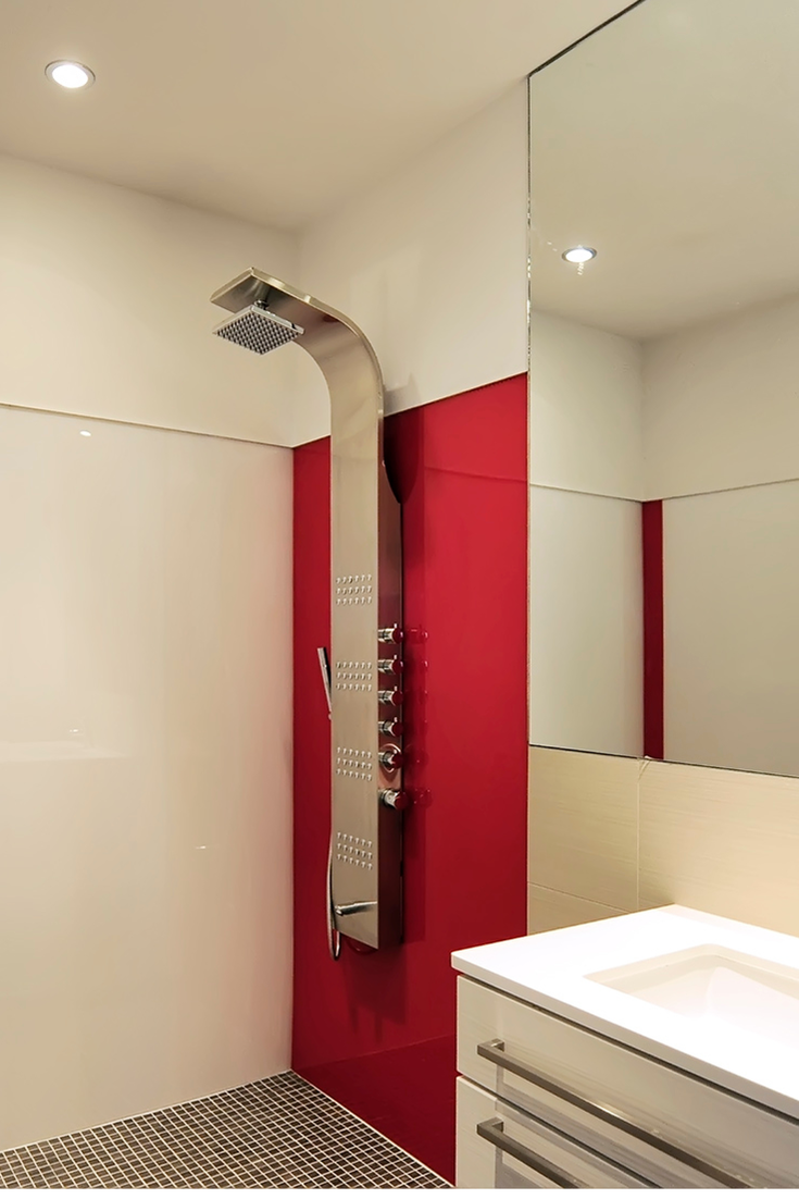 3 Design Options in Grout Free DIY Shower & Tub Wall Panels ...