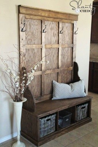 Industrial Pipe Entryway Storage Bench With Coat Rack And Waved Gorgeous Entryway Storage Bench And Coat Rack