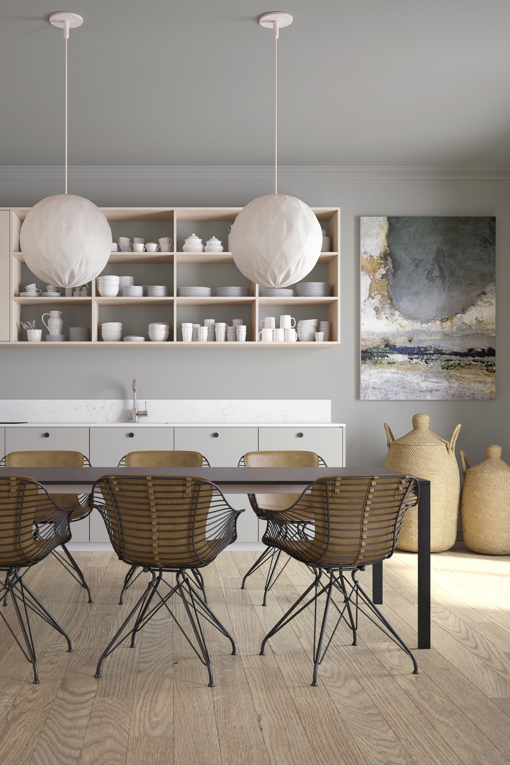 Carry Over Your Interior Design Choices Into The Adjoining Kitchen Space For A Seamless Feel