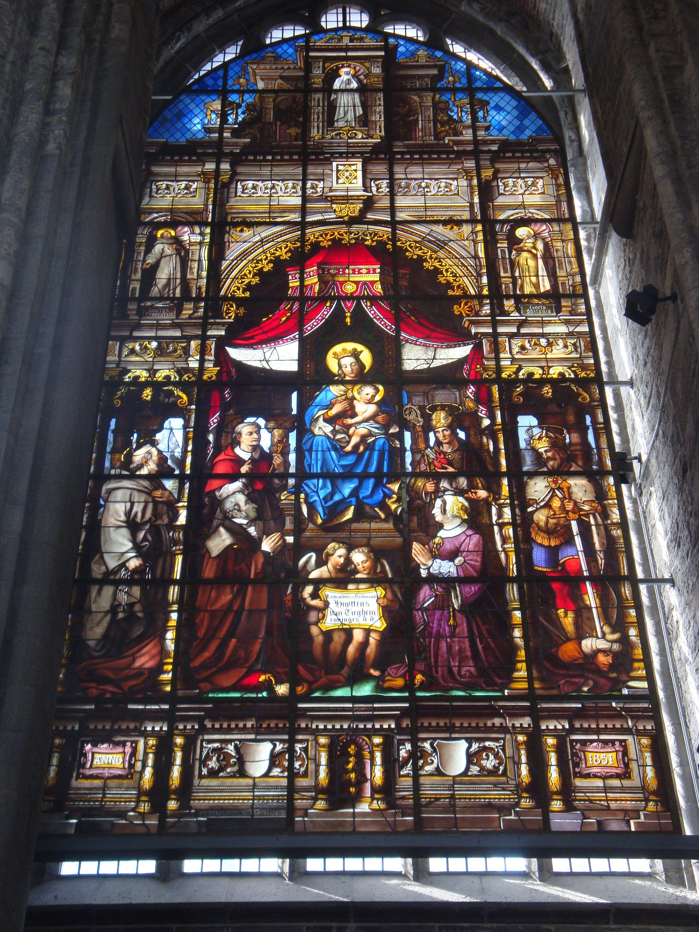 Glas in lood kerkraam gent kerk pinterest kastelen en geloof - Geloof glas ingerichte ...