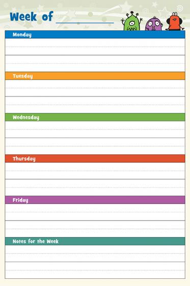 Primary planner wall chart teach your students how to use their with this  dry erase also rh pinterest