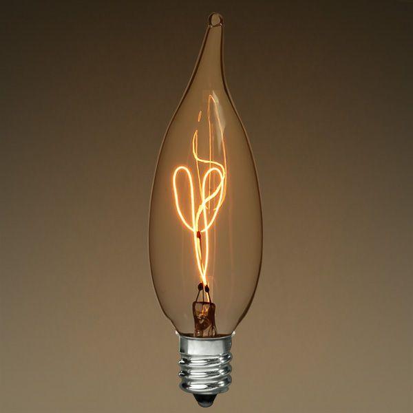 Antique Light Bulb Flame Shape 25 Watt Antique Light Bulbs Vintage Light Bulbs Light Bulb